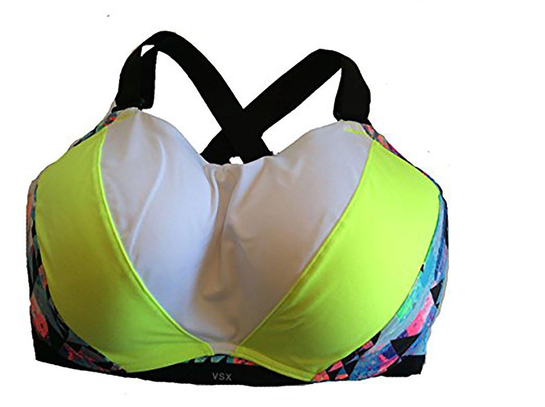 Victoria's Secret Ultimate Maximum Support Sport Bra 34DD Neon Multi