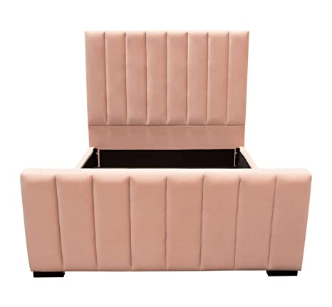 Amazon.com: Diamond Sofa Tufted Bed in Blush Pink (Queen: 89 ...