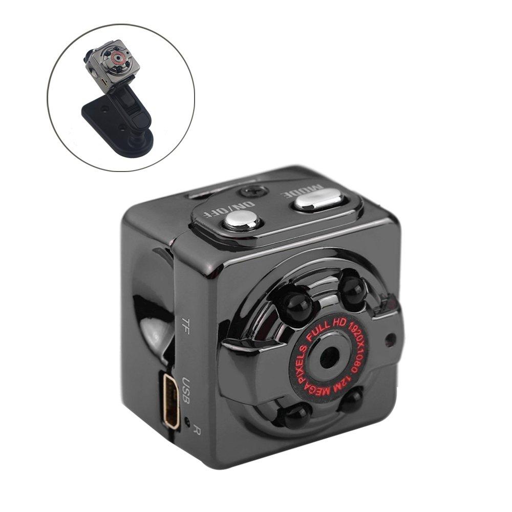 Mini Camera, OXOQO 1080P SQ8 Mini Spy Hidden Camera Full HD Car DVR 12MP Voice Portable Video Recorder with Infrared Night Vision, Wireless Motion Photos Camera Mini DV DC Micro Digital Camera 6025779867160