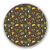 Uneekee Mexican Party Lazy Susan: Large, Dark Wooden Turntable Kitchen Storage