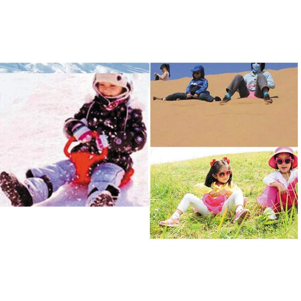 AMOYER Snow Saucer Kids Sled Winter Sports Toy Sledge Sled Plastic Toboggan Downhill Sand Skiing Grass Slide Bum 15