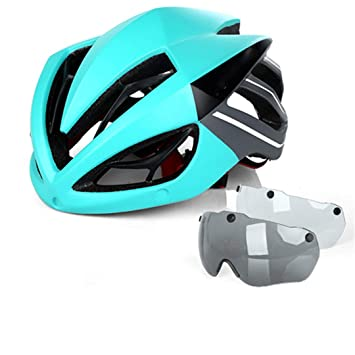 HK-Kensolng Casco de Bicicleta Casco de Bicicleta Gafas ...