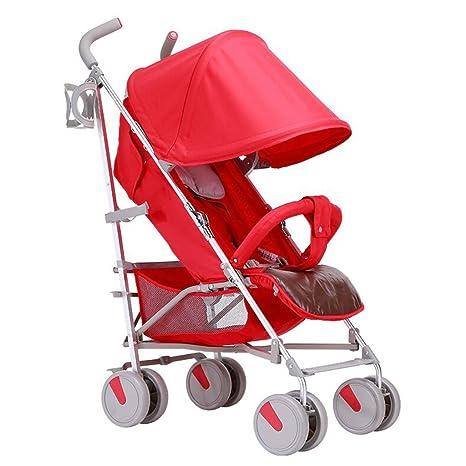 PLDDY cochecito de bebé puede sentarse horizontal portátil ...