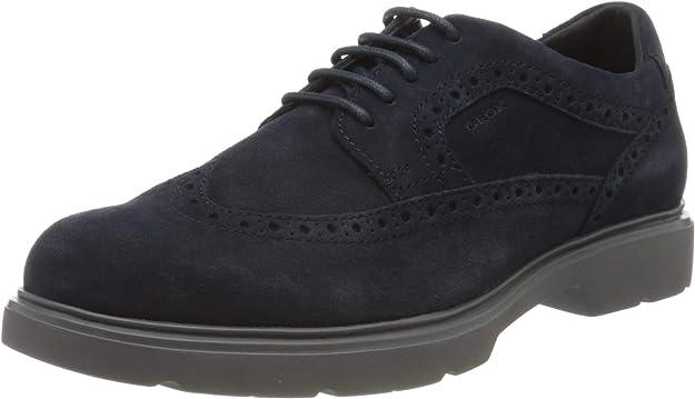 Geox U Arrall B, Zapatos de Cordones Brogue para Hombre