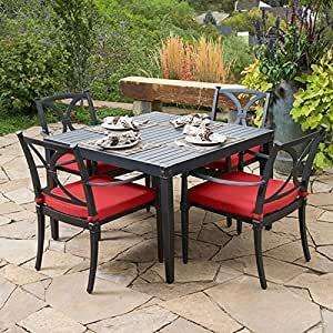 Astoria 5 Piece Caf+ Dining Set with Dining Table