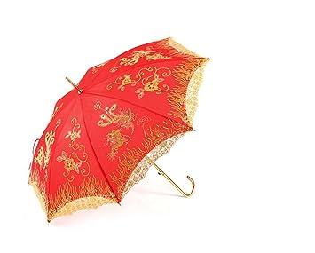 énorme réduction 623b9 f8065 THUNFER Parapluie Marié Rouge Parapluie De Mariage Parapluie ...