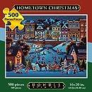 Jigsaw Puzzle - Hometown Christmas 500 Pc By Dowdle Folk Art