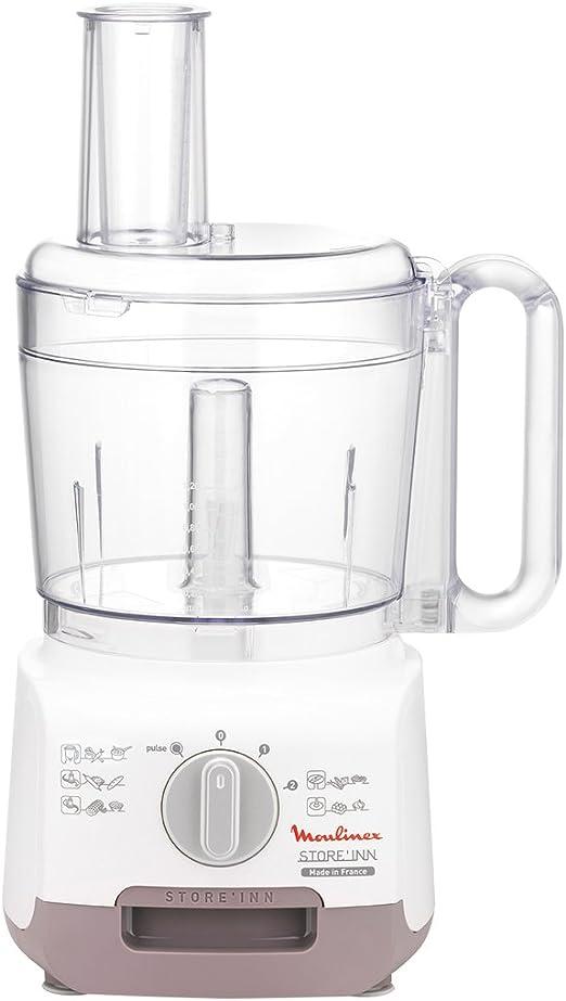 Moulinex FP321F Robot de cocina, 750 W, 1.25 L, plástico, color blanco y transparente: Amazon.es: Hogar