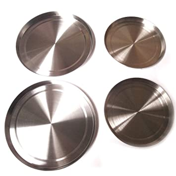 Amazon Com 4pcs Set Round Stainless Steel Stove Top Covers Kitchen