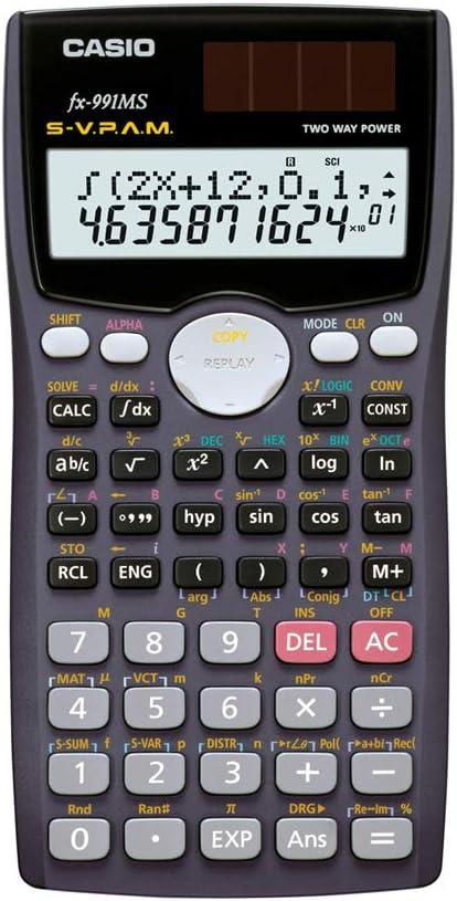 Amazon.com : Casio fx-991MS Scientific Calculator with 2-Line Display : Electronics