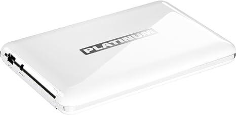 Platinum MyDrive 500GB externe Festplatte (6,4 cm (2,5 Zoll), 5400rpm, 8MB Cache, USB 2.0) weiß [Amazon Frustfreie Verpackung]