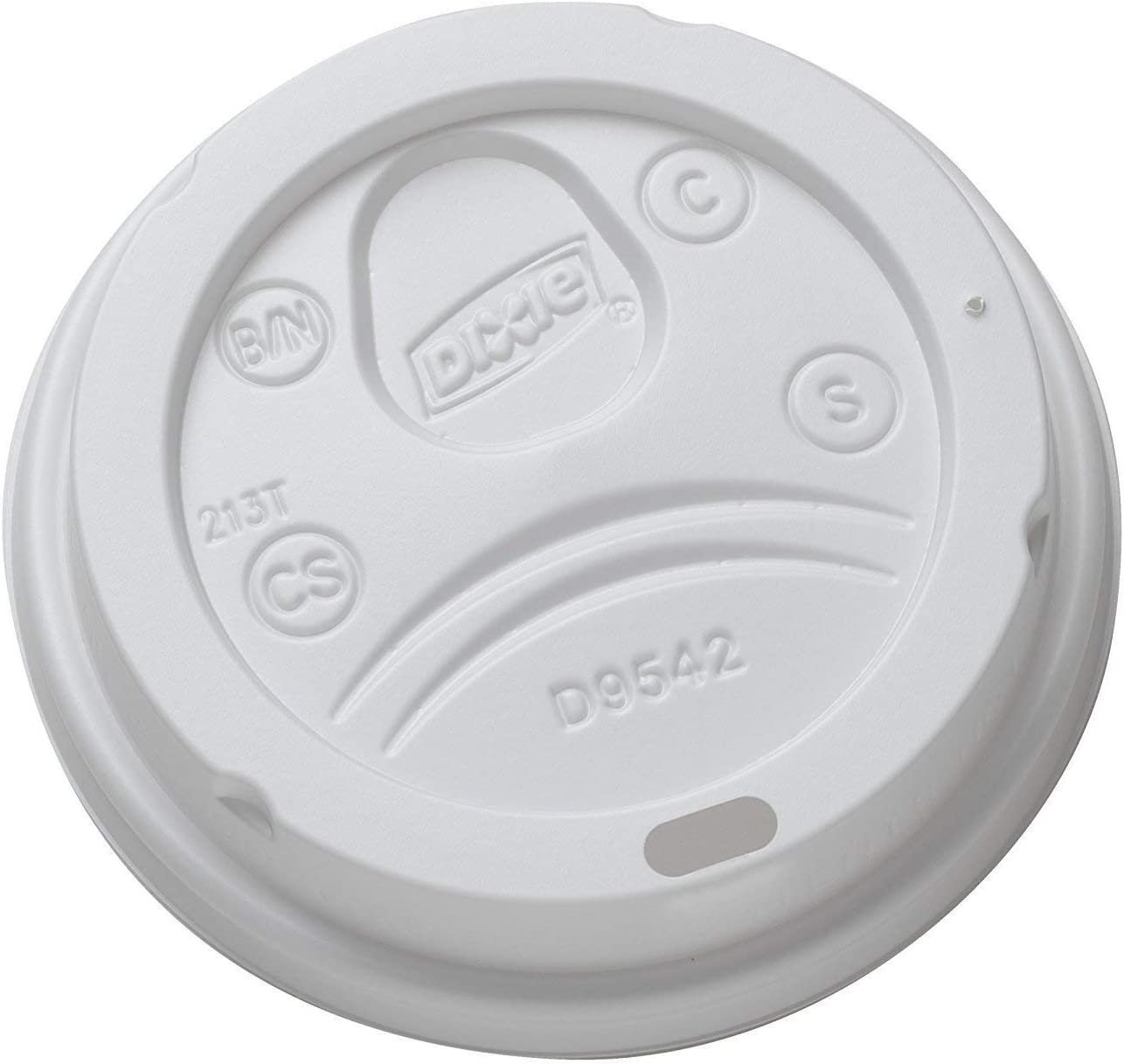 Dixie D9542W Dome Lid for 10-16 Ounce PerfecTouch Cups and 12-20 Ounce Paper Hot Cups, White 100 Lids