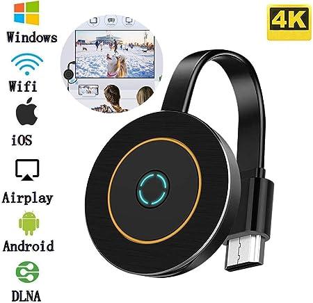 Adaptador Inalámbrico Dongle con Pantalla WiFi, 4K HDMI, Receptor De Pantalla De Audio Y Video Que Comparte Medios, Compatible con iOS/Android/ Samsung/iPhone/iPad/Proyector/TV/Windows: Amazon.es: Hogar
