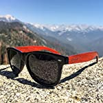 Woodies Rose Wood Sunglasses with Polarized Lenses 14 BONUS ITEMS: FREE Carrying Case, Lens Cloth, and Wood Guitar Pick BUY WITH CONFIDENCE: 30-Day Money Back Guarantee