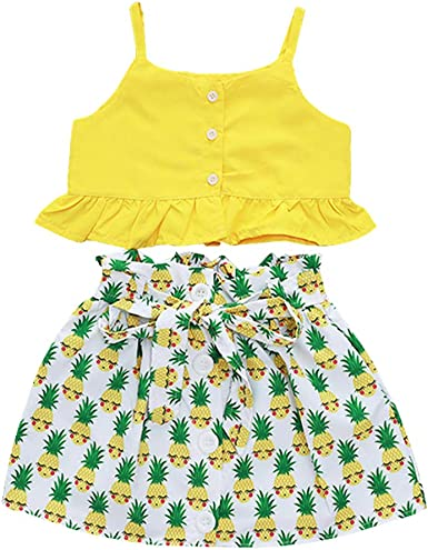 Kids Baby Girls Summer Clothes Vest Crop Tops Long Pants Toddler Outfits Set