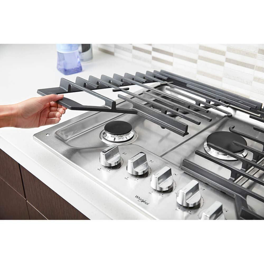 Whirlpool WCG77US0HS 30 Stainless 5 Burner Gas Cooktop