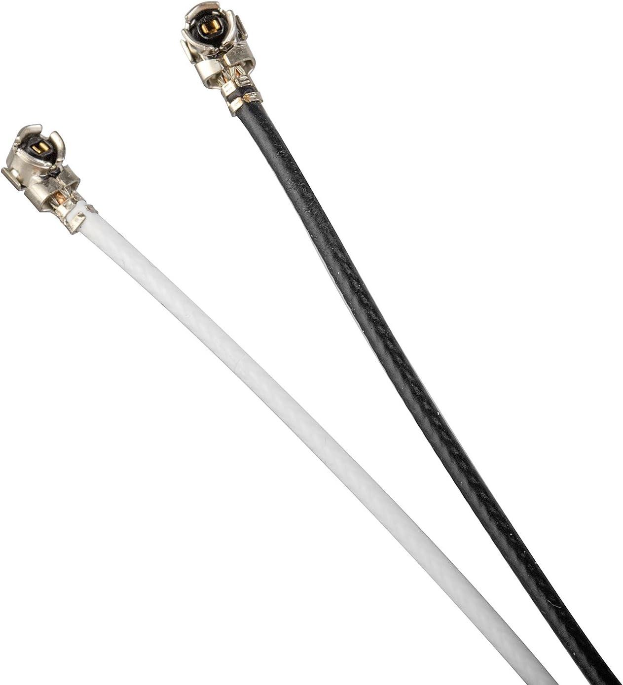 Pair of Internal Antenna for Laptop Mini//Half Mini PCI-e WiFi Bluetooth Card White Aux 28 inch Main Black 24 inch