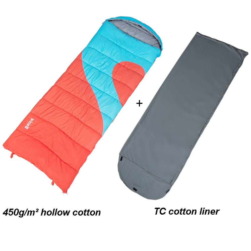 MUTANG カップルダブル寝袋大人の屋内冬厚い暖かいキャンプ旅行フォーシーズンズホテル寝袋様々な厚さオプション B07DQLH91D 250g