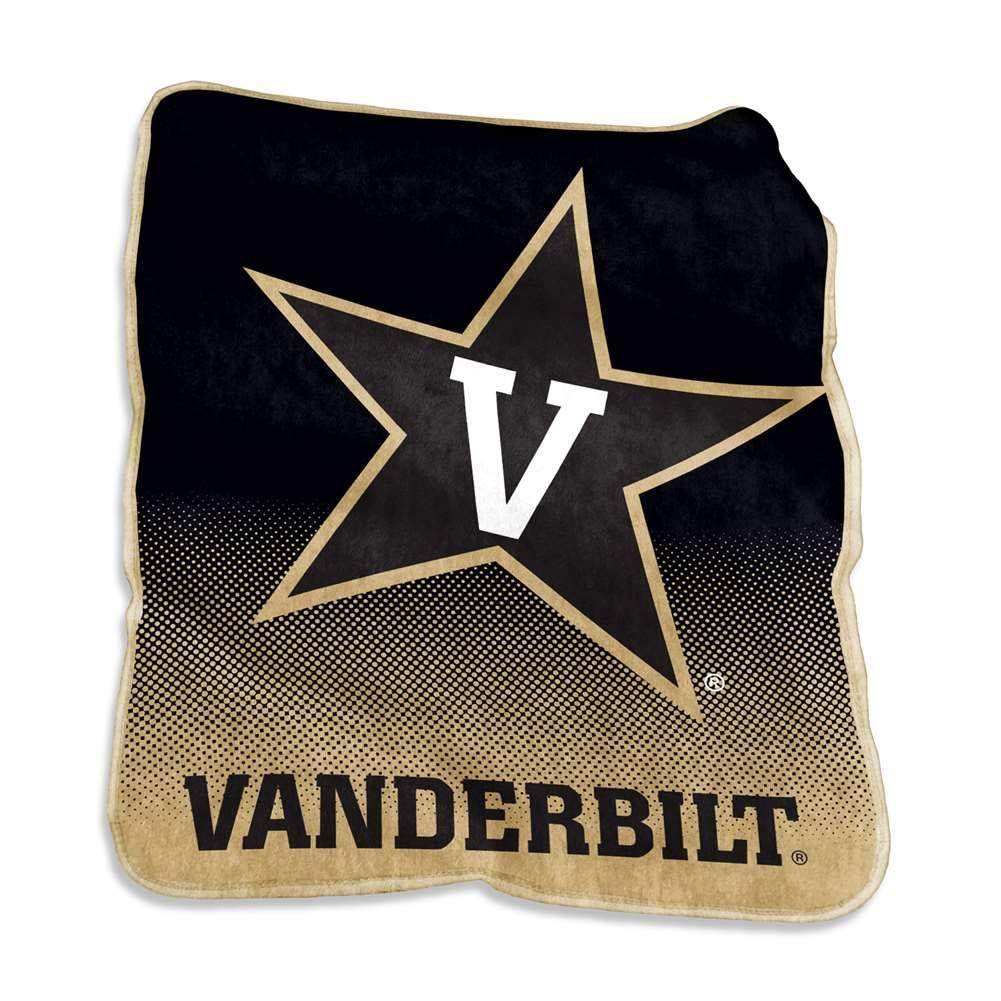 Logo Brands NCAA Vanderbilt Raschel Throw Multi One Size
