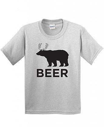 4449a4c48 Amazon.com: Bear Deer Beer Mens Novelty Sarcastic Drinking Humor ...