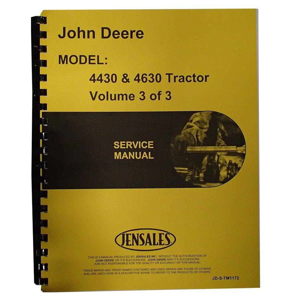 Amazon.com: Service Manual For John Deere 4430 Diesel Tractor: Industrial &  Scientific