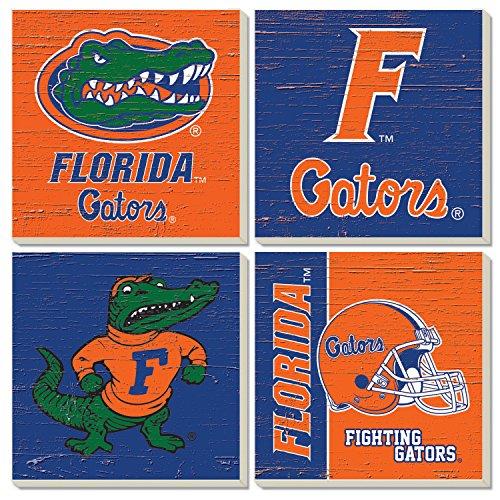 Square Collegiate Coasters (Set of 4) (Florida)