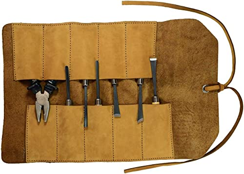 Hide Drink, Small Tool Roll, Handmade Includes 101 Year Warranty Old Tobacco