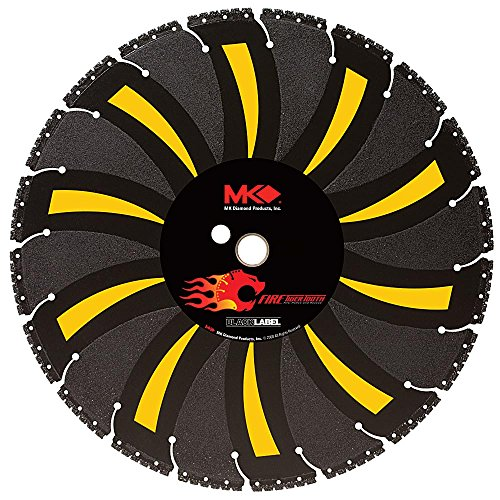 MK Diamond 166692 14-Inch Fire Tiger Tooth Black Label Diamond Demolition/Fire Rescue Blade