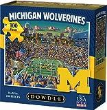 Dowdlw Michigan Wolverines Jigsaw Puzzle 100 Pieces