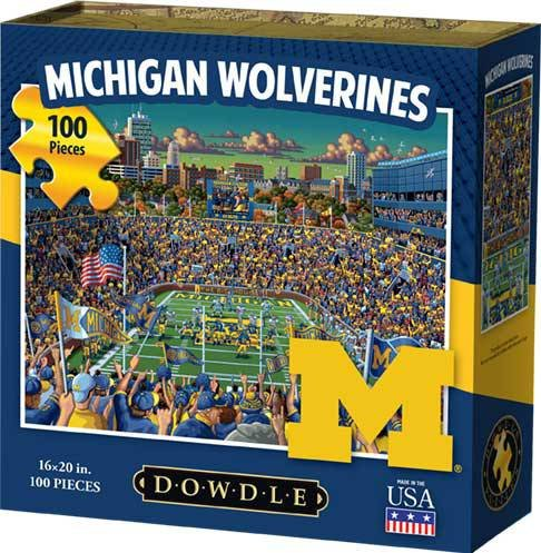 - Dowdle Jigsaw Puzzle - Michigan Wolverines - 100 Piece