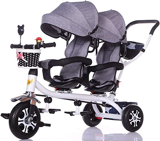 Jiji Sillas de Paseo Carro de bebé Triciclo Doble for niños Carro ...