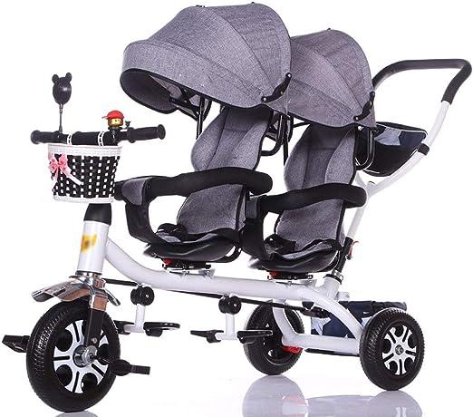 Jiji Sillas de Paseo Carro de bebé Triciclo Doble for niños Carro ...