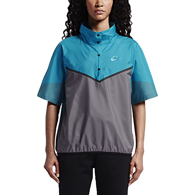 ab0d8571c NikeLab Womens Pac WR Top X Kim Jones Running Jacket,Turquoise, Med, 837939  407: Amazon.ca: Clothing & Accessories