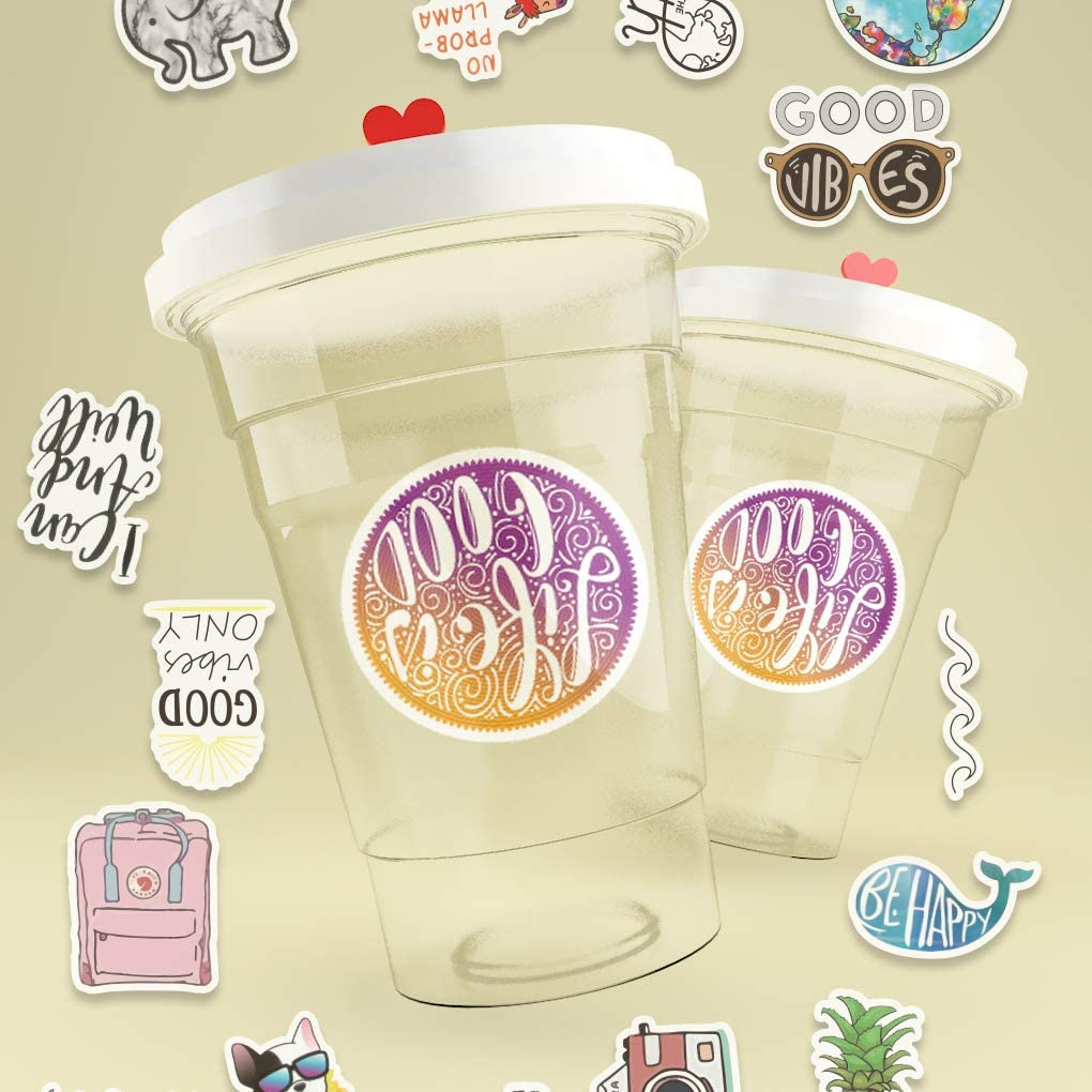 Waterproof,Aesthetic,Trendy Stickers for Teens,Girls Perfect for Waterbottle,Laptop,Phone,Travel 70 Pack, VSCO Stickers Cute VSCO Stickers for Water Bottles