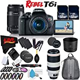 6Ave Canon EOS Rebel T6i DSLR Camera with 18-55mm Lens, 55-250mm Lens and 100-400mm - 3 Lens Combo