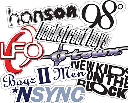 2000's Boy Band Sticker Set - nsync, backstreet boys, new kids on the block, hanson, lfo, 98 Degrees **Water Proof Stickers**