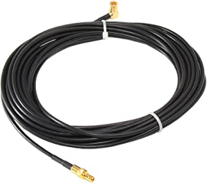 Anina 23' Sirius XM Radio Antenna Coaxial Extension Cable for Home Vehicle Satellite Radio Stereo Receivers Tune SMB Male Straight to SMB Female Right Angle