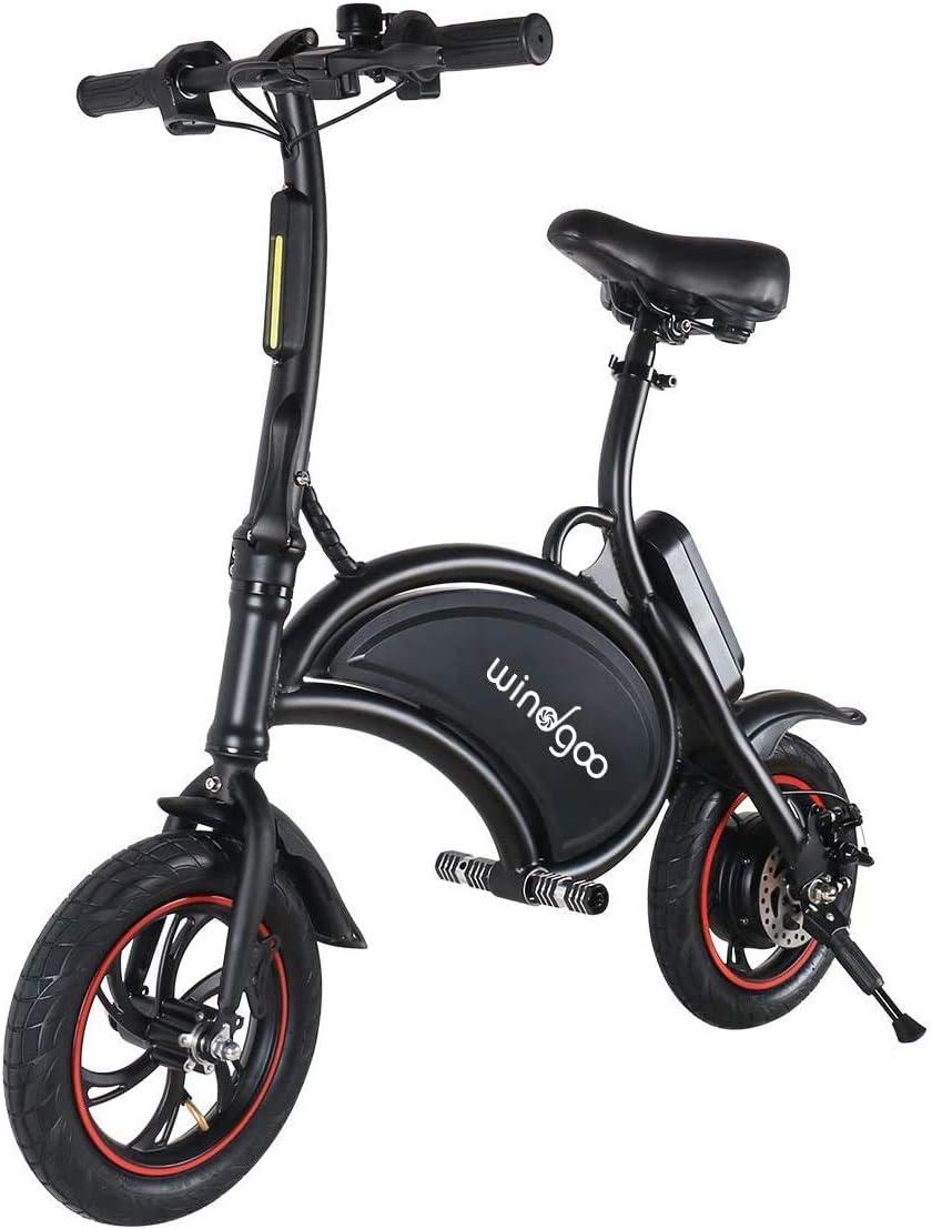 Nologo Bicicleta eléctrica Foldablke 12 Pulgadas 36V Bicicleta eléctrica con 6,0 Ah batería de Litio Ciudad de Bicicletas Velocidad máxima 25 kilometros de Frenos de Disco h ??
