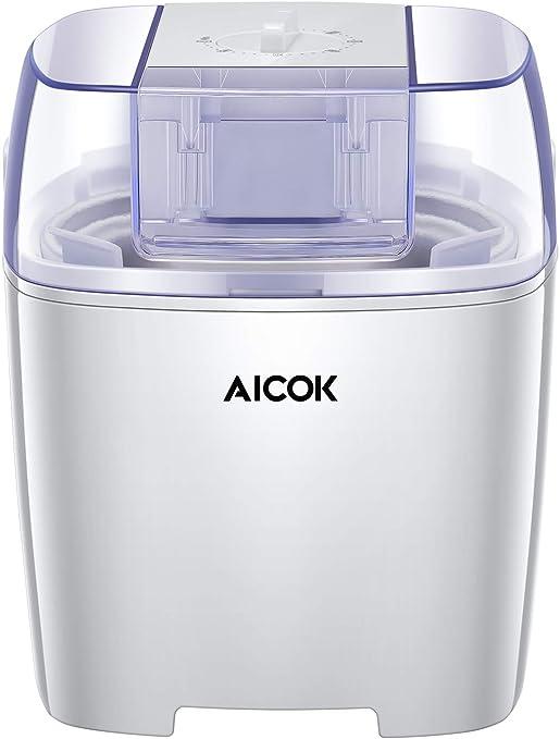 Aicok Máquina para hacer helados, yogur congelado y sorbete sin ...