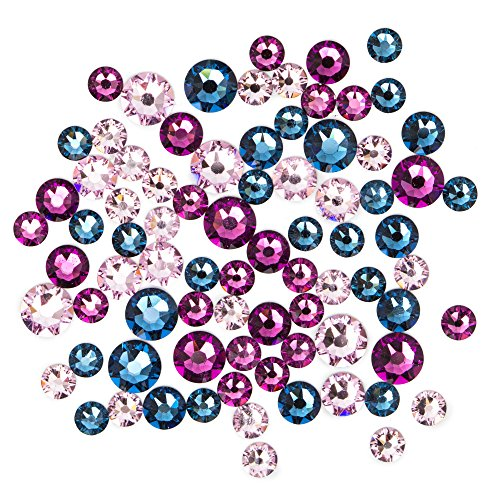Swarovski - Create Your Style Flatback Mix Blue Purple 3 Packages of 80 Piece (240 Total Crystals)