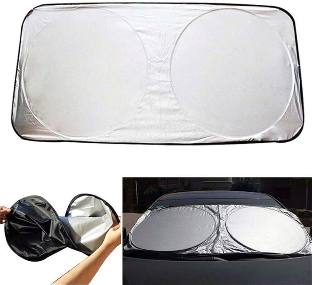 130x60cm Opfree Pare-Soleil de Voiture pour avec Protection UV,Car Sun Shade Front Window,Car Front Windshield Shades,Fits Front Windshields of Various