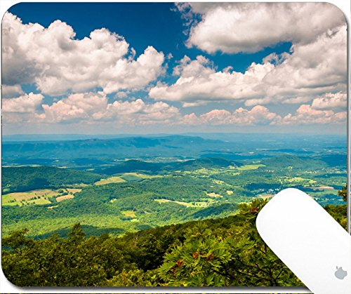 Luxlady Natural Rubber Gaming Mousepads View of the Shenandoah Valley from Appalachian Trail in National Park Virginia 9.25in X 7.25in IMAGE: - Virginia Valley View