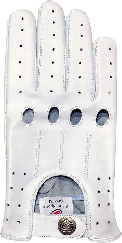 Prime Leather Herren Autofahrer Handschuhe Aus Echtem Leder Ohne Futter 502 Large Black