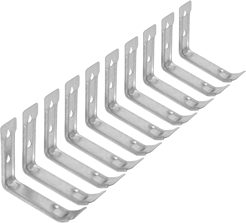 Wideskall Zinc Plated Steel Hanging Utility Brackets Pack of 6