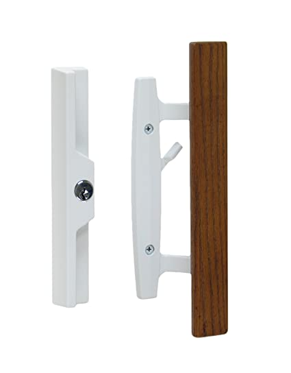 Lanai Sliding Glass Door Handle And Mortise Lock Set With Oak Wood