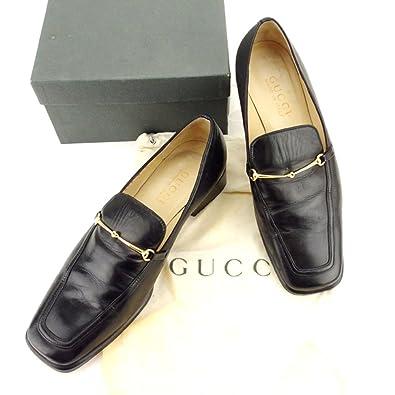 los angeles 48da0 919d0 Amazon | [グッチ] ローファー #36 1 2 シューズ 靴 ブラック 黒 ...