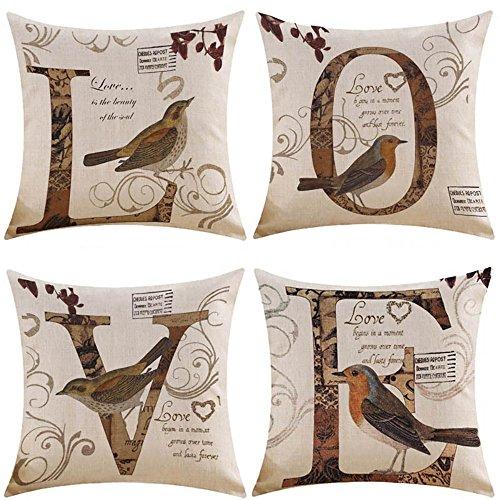 MIULEE Pack of 4 Decorative Birds