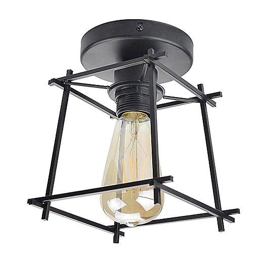 Vintage Industrial plafón E27 tornillo lámpara plana geome ...