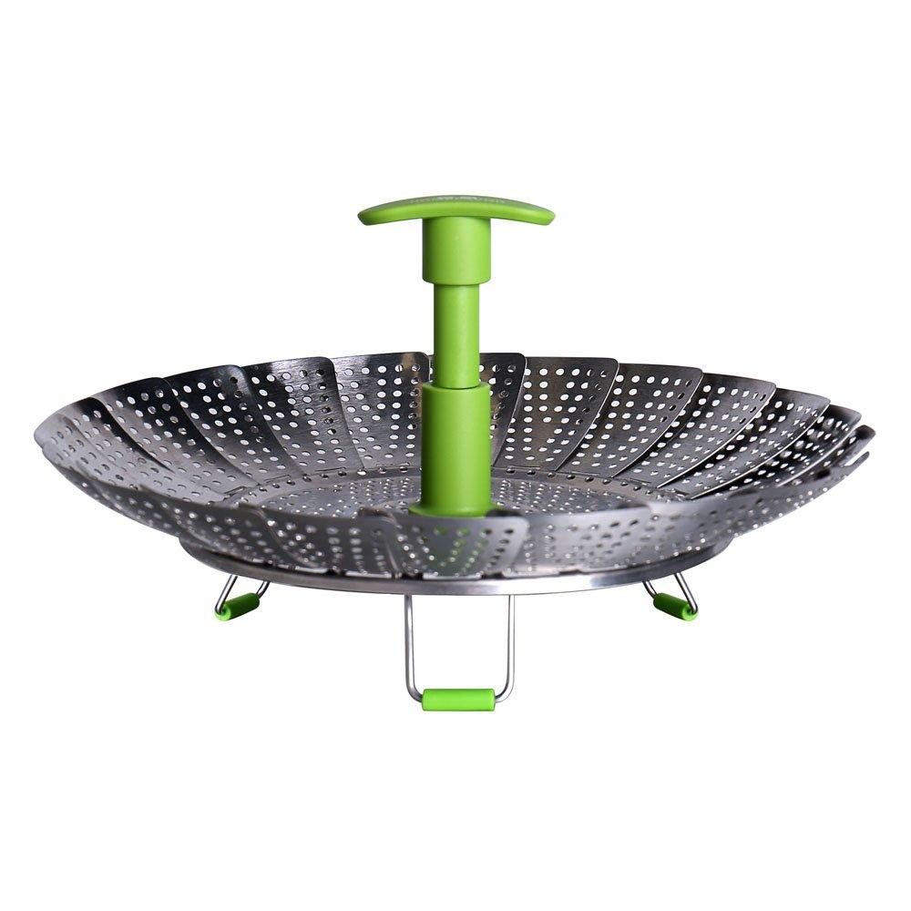 GA Homefavor Foldable Vegetable Steamer Basket Stainless Steel Cook Utensil with Extendable Handle G.a HOMEFAVOR