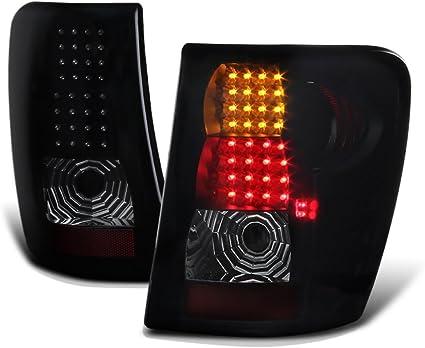 Jeep 99-04 Grand Cherokee Smoke LED Rear Tail Lights Brake Lamp Set